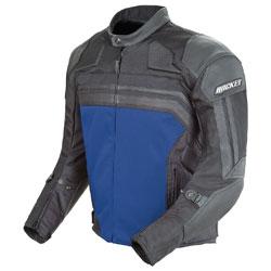 Joe Rocket Men's Reactor 3.0 Black/Blue Mesh/Leather Jacket