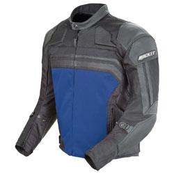 Joe Rocket Men's Reactor 3.0 Black/Blue Mesh/Leather Jacket