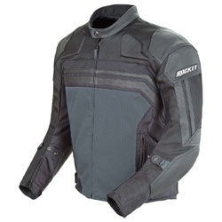 Joe Rocket Men's Reactor 3.0 Black/Gunmetal Mesh/Leather Jacket
