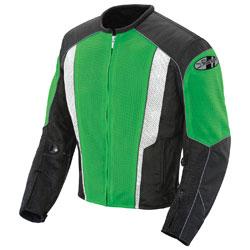 Joe Rocket Men's Phoenix 5.0 Green/Black Mesh Jacket