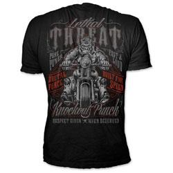 Lethal Threat Men's Respect Given Black T-Shirt