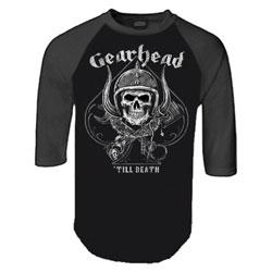 Lethal Threat Men's Gearhead Black/Charcoal Baseball Tee
