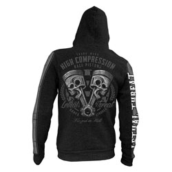 Lethal Threat Men's High Compression Piston Black Hoodie