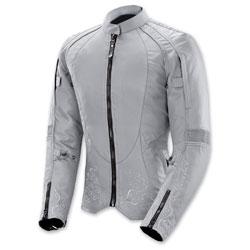Joe Rocket Women's Heartbreaker 3.0 Gray/Silver Jacket