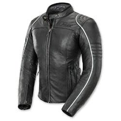 Joe Rocket Women's Lira Black/White Leather Jacket