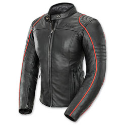Joe Rocket Women's Lira Black/Red Leather Jacket
