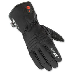 Joe Rocket Men's Rocker Burner Textile Heated Black Gloves