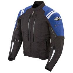 Joe Rocket Men's Atomic 4.0 Waterproof Blue/Black Jacket