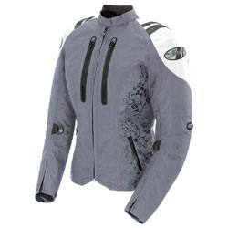 Joe Rocket Women's Atomic 4.0 Waterproof Silver/White Jacket