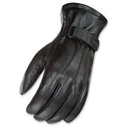Joe Rocket Men's Jet Touch Screen Black Leather Gloves