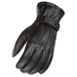 Joe Rocket Men's Jet Touch Screen Black Leather Gloves