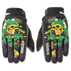 Joe Rocket Men's Artime Joe Destroy Green Gloves