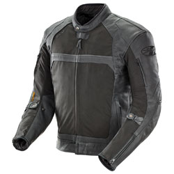 Joe Rocket Men's Syndicate Nylon/Leather Black Jacket