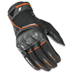 Joe Rocket Men's Super Moto Black/Orange Gloves