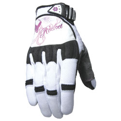 Joe Rocket Women's Heartbreaker White/Purple Gloves