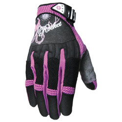 Joe Rocket Women's Heartbreaker Black/Purple Gloves