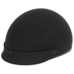 Black Brand Cheater .50 Matte Black with Pink Logo Half Helmet