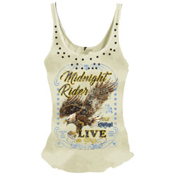 Lethal Angel Women's Midnight Rider Cream Tank Top