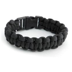 AMiGAZ Para Cord Buckle Black Bracelet