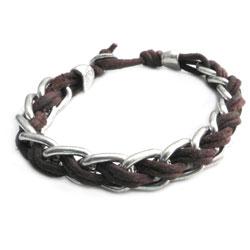 AMiGAZ Splicer Chain Leather Bracelet