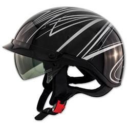 Zox Roadster DDV Freehand Silver Half Helmet