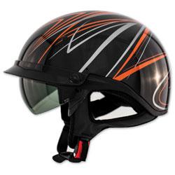 Zox Roadster DDV Freehand Orange Half Helmet