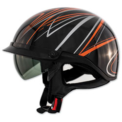 Zox Roadster DDV Freehand Orange Half Helmet