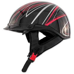 Zox Roadster DDV Freehand Red Half Helmet