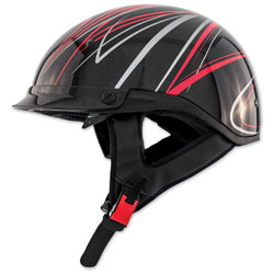 Zox Roadster DDV Freehand Red Half Helmet