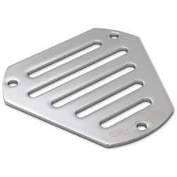 Burly Brand Chrome Slotted Hex Air Cleaner Face Plate