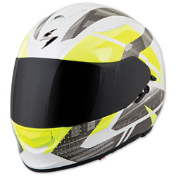 Scorpion EXO EXO-T510 Fury White/Silver Full Face Helmet