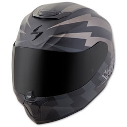 Scorpion EXO EXO-R420 Tracker Titanium/Black Full Face Helmet