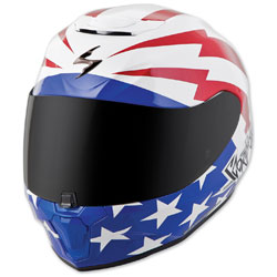 Scorpion EXO EXO-R420 Tracker White/Red/Blue Full Face Helmet