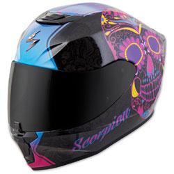 Scorpion EXO EXO-R420 Sugarskull Black/Pink Full Face Helmet