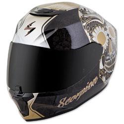 Scorpion EXO EXO-R420 Sugarskull Black/Gold Full Face Helmet
