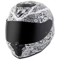 Scorpion EXO EXO-R420 Shake White Full Face Helmet