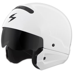 Scorpion EXO Covert Gloss White Half Helmet