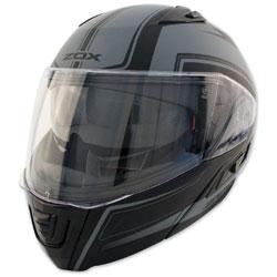 Zox Condor SVS Envoy Matte Dark Silver Modular Helmet