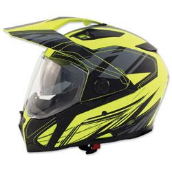Zox Z-Series Z-DS10 Urbanite Matte Hi-Viz Yellow Full Face Helmet
