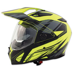 Zox Z-Series Z-DS10 Urbanite Matte Hi-Viz Yellow Full Face Helmet