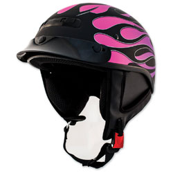 Zox Alto Custom Hot Rod Matte Purple Half Helmet