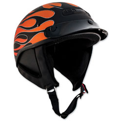 Zox Alto Custom Hot Rod Matte Orange Half Helmet