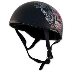 Zox Retro Old School Muerte Matte Black Half Helmet