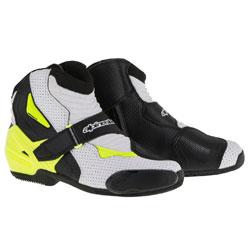 Alpinestars Men's SMX-1 R Vented Black/White/Yellow Boots