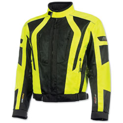 Olympia Moto Sports Men's Airglide 5 Mesh Tech Neon Yellow Jacket