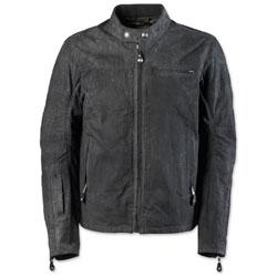 Roland Sands Design Apparel Men's Ronin Perf Waxed Cotton Black Jacket
