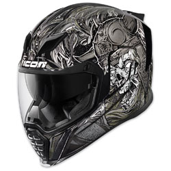 Icon Airflite Krom Black Full Face Helmet 0101 10815 Jpcycles Com