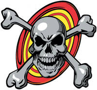 Lethal ThreatSkull & Bones Decal