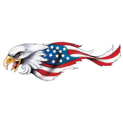 Lethal Threat USA Eagle Decal - Left