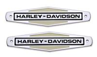 Gas Tank Emblem Set with Black Lettering